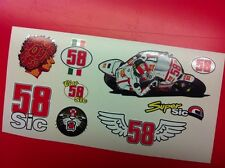 9 Adesivi Super SIC 58 Simoncelli Advance vari formati sponsor moto auto
