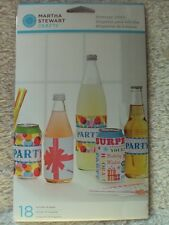 Martha Stewart Modern Festive Assorted Beverage Labels Party New