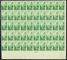 #756 BOTTOM SHEET OF 50 1935 1 CENT PARKS FARLEY ISSUE  MINT-NO GUM AS ISSUED