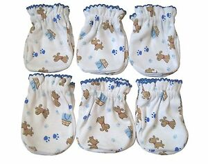6 Pairs Newborn Baby/infant Anti-scratch Cotton Mittens Gloves---Little Dog
