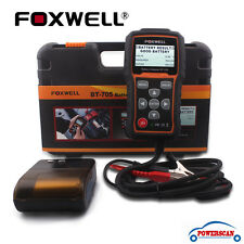 FOXWELL BT705 12V/24V Car Heavy Duty Truck Battery Load Tester+Bluetooth Printer