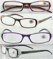 L209 Fancy Design Ladies Reading Glasses/Diamante&Laser Pattern Spring Hinge Arm