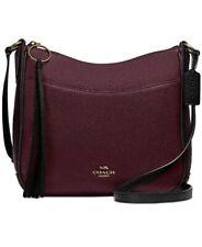 ❤️ Coach Colorblock Chaise Crossbody Vintage Mauve Multi 38696 Pebble Leather