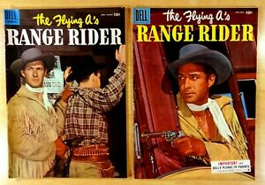 2 the FLYING A's RANGE RIDER 1955 #10 #11 Photo Cover Jock Mahoney Western TV