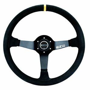 Sparco 015R325CSN R-325 Series Suede Black Steering Wheel