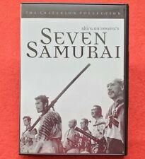 Seven Samurai Dvd The Criterion Collection Akira Kurosawa 1998 Classic Original