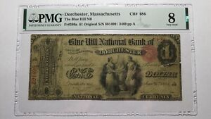 $1 1865 Dorchester Massachusetts MA National Currency Bank Note Bill #684 PMG
