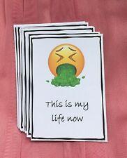 Pregnancy Milestone Cards, Naughty/fun Emoji. Sister, Friend, Baby Shower gift