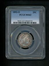 1892-O US Barber Quarter 25c .25  PCGS MS62 UNC Well Struck First YearType GEM!