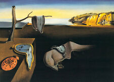 Salvador Dali The Persistence of Memory 1931 Surrealism Clock Print Poster 27x24