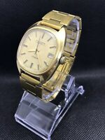 Poljot Wristwatch Gold Plated AU 5  Mechanical  2614 2H Soviet Watch 17 Jewels