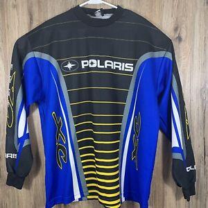 Pure Polaris Edge XC Snowmobile Motocross Jersey Men's XXL Made In USA Blue