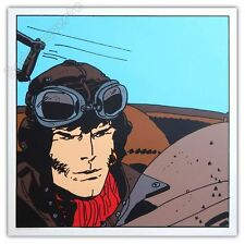 Affiche Sérigraphie Hugo Pratt Corto Maltese Aviateur 50x50 cm