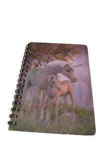 Unicorn 3d Spiral Notebook