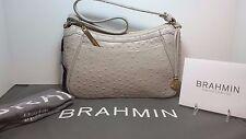 Brahmin NWT Braxton Dove (Gray/Taupe) Normandy Shoulder/Wrist Ostrich Handbag
