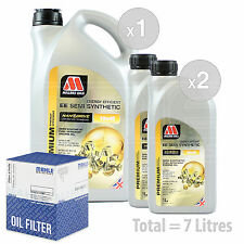 Engine Oil and Filter Service Kit 7 LITRES Millers NANODRIVE EE 10w-40 7L
