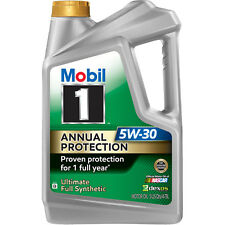 Mobil 1 Annual Protection 5W30, 5 qt Ultimate full synthetic formula