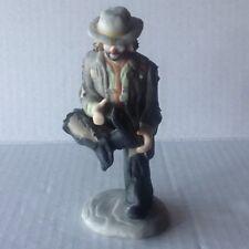 Flambro Emmett Kelly Ceramic Figurine Miniature collection HOLE IN MY SHOE
