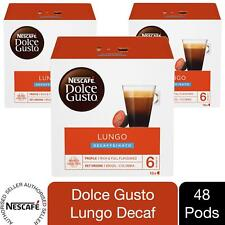 Nescafe Dolce Gusto Coffee Pods 3x Boxes / 48 Caps Cafe Lungo Decaf