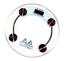 TOP Design Rund Glas Personenwaage Digital Waage 180kg /0,1kg - 396lb/0,2lb NEU