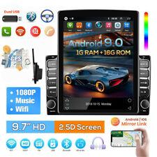 "2 DIN Vertikale Touchscreen Autoradio Android 9.0 Bluetooth GPS NAVI Wifi 9.7"""