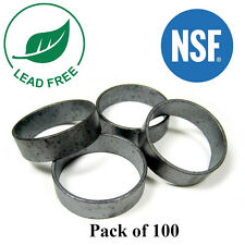 "(100) 1/2"" PEX Copper Crimp Rings Black Oxidized Surface Lead Free Crimping"