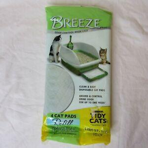 "1 Pack of 4 Cat Litter Pads TIDY CATS Breeze Refill Odor Control 16.9"" x 11.4"""
