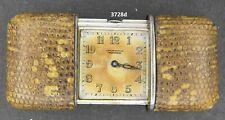 3728, Vintage Movado Purse watch Ermeto,  Sterling & snake skin? sliding case.