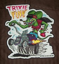 "LARGE OFFICIALLY LICENSED ED ""BIG DADDY"" ROTH RAT FINK TRIXIE HOT ROD BACK PATCH"