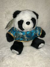 "Small Plush Panda Way Bear from Chengdu, China Panda Reserve, 9"" New With Tags"