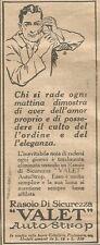 W1384 Rasoio di sicurezza VALET Autostrop - Pubblicità 1926 - Vintage Advert