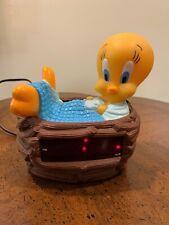 Tweety Bird Digital Alarm Clock  Vintage 1996 Warner Bros Westclox # 32402