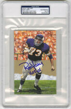 Ron Yary SIGNED Goal Line Art Card + HOF 01 Vikings PSA/DNA AUTOGRAPHED GLAC