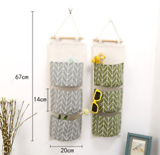 Wall Door Hanging Storage Organizer Toys Container Pocket Pouch Home Decor Grey
