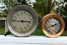 Antique Steampunk Steam Pressure Oil Gauge Ashcroft Fairbanks Morse