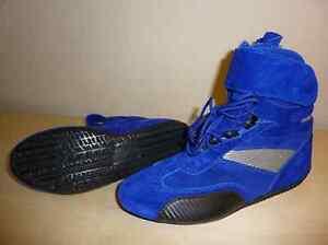 Blue kart racing boots