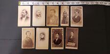 HTF Antique Mini Cabinet Card Photo LOT TEXAS 1880s TX
