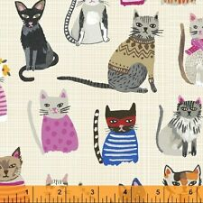 Cool Cats cotton print by the yard Windham
