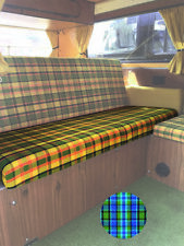 T2 Westfalia Full Width Rock and Roll Bed/ Seat bottom Cover in Blue C9703BL