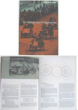 DUNLOP veterano & VINTAGE PNEUMATICI BLOCCHETTO C. 1966 STORIA le dimensioni del cerchione standard