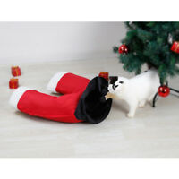 Santa Claus Pants Cat Toys Collapsible Tunnel Dog Tube for Fat Cat, Dogs