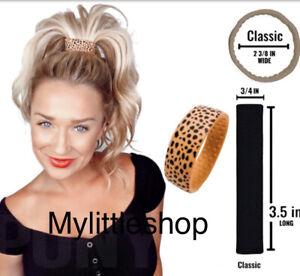Genuine PONY-O Hair Silicone Band Cheeta Classic New