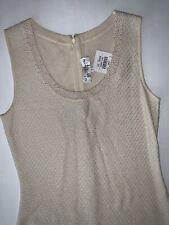 NWT! ST. JOHN EVENING IVORY BEADED NECKLINE DRESS! 6 $1200