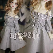 New 1/3 SD DD BJD Smart Doll Clothes Cute greyish white Condole belt Dress/Skirt