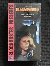 1995 Blockbuster Release Halloween Sealed VHS Horror Slasher