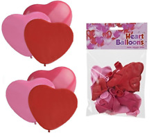 Pack 20 Red Pink Love Heart Shape Balloons Wedding Hen Night Party Anniversary