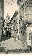 Spain Fontarabie - Calle Mayor 1909 postcard