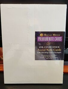 Regal Mills Premium Note Cards Crown with Tassel Gray  Stock 20 Cards Envelopes