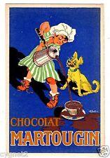 POSTCARD FRENCH CHOCOLAT MARTOUGIN ADVERTISING ARTIST-SIGNED
