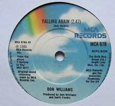 "DON WILLIAMS - Falling Again - Excellent Condition 7"" Single MCA 678"